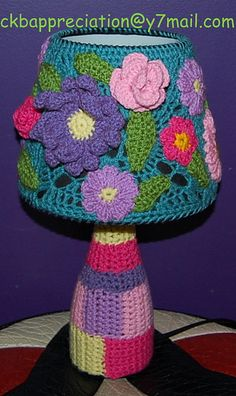 Yarn bomb Lamp by crochet knit bomb appreciation, via Flickr