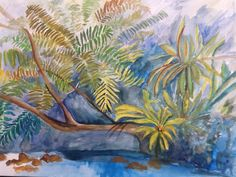 All About the Tropics 2 Watercolour Artwork by Artist Sharon Wood swoody@internode.on.net