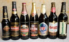 Czech Beer/ My cousin is the brewery master of the second beer from the left KRUSOVICE (now Heineken group)