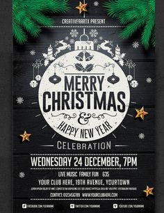 Merry Christmas Flyer Templates  Christmas Flyer Flyer Template