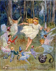 Vintage Playing Fairies