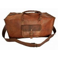 Vintage leather duffle bag sports style Square 24 inches Duffle Bag Travel, Mens  Travel Bag ab5e5e838c