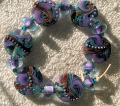 Destash Lot of 27 Donna Millard Lampwork Beads  by therodeorose, $85.00