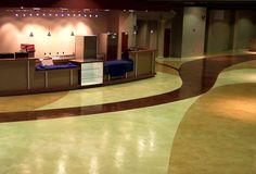 Interior commercial decorative concrete flooring – church flooring «