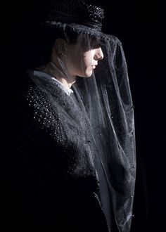 Beaded suit and veil backstage at Thom Browne AW15 PFW. See more here: http://www.dazeddigital.com/fashion/article/23400/1/thom-browne-aw15