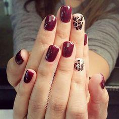 @emmadoesnails leopard nails cheetah nails red nails plum nails purple nails burgandy nails maroon nails