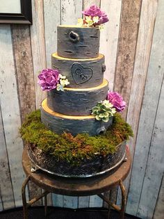 Rustic Wedding Cakes on Craftsy | Flickr - Photo Sharing!