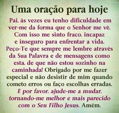 Uma oração para hoje