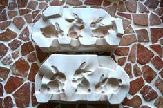 Giessform+für+Keramik,+3+Hasen,+Ostern,+Osterhasen+von+Kunst+&+Krempel+auf+DaWanda.com