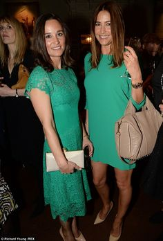 Pippa Middleton and Lisa Snowdon wear dresses in the same shade #dailymail
