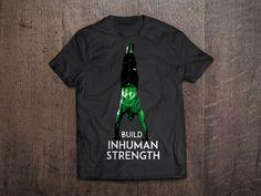 Inhuman Strength T-Shirt,$19.99 | bodyweighttrainingarena.com #shop #bodyweight