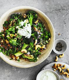 This nicely textured spelt, cashew and broccoli salad transports well, making it ideal for picnics or to take to barbecues. The broccoli can be kept raw and shaved on a mandolin, too.