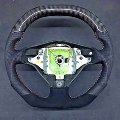 High Quality Pro Carbon Fiber and Leather Car Steering Wheel Fit Audi 05-11