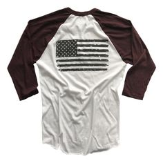 907dae2023d Men s Old Glory Baseball Raglan T Shirt (White   Truffle)