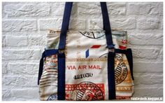 The tatanne bag with reference to free pattern. De tatanne tas met verwijzing naar gratis patroon
