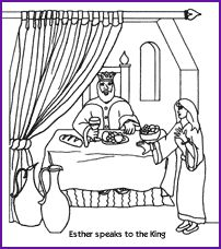 esther coloring page kids korner biblewise