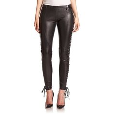 Faith Connexion Leather Lace-Up Leggings ($2,170) ❤ liked on Polyvore