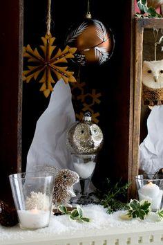 Owl christmas ornament Pinned by www.myowlbarn.com
