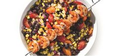 Take a look at this recipe (Summer Corn Salsa with Skewered Shrimp)