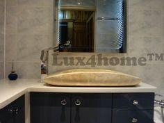 Nablatowe umywalki z kamienia. Oto marmurowa umywalka nablatowa IDS003 od Lux4home™