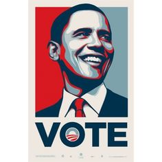 #STREET ART- Shepard Fairey, dit Obey Giant, Obama Vote, 2008 750 euros- 850 USD Buying: contact@studiolo-paris.com
