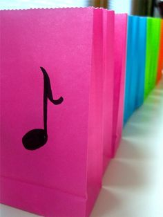 Musical Note Gift Bag