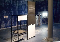 """Carola Dertnig """"Again audience/ Stage Speakers,podium after A. Rodchenko, design Peter karlsberger steel and wood, dimension variable 20th Anniversary, Speakers, Feminism, Divider, Stage, Wood, Furniture, Collection, Design"""