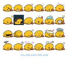 Tuzki's favourite Duck now has his own set of avatars!  Download here: http://www.clubtuzki.com/avatars/2013_tuzki_avatars_duck_set.zip