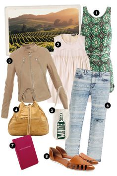 vacation outfit ideas for Napa, California