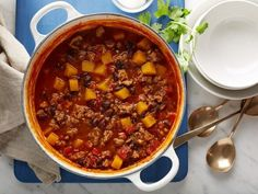 Get Butternut Squash and Turkey Chili Recipe from Food Network