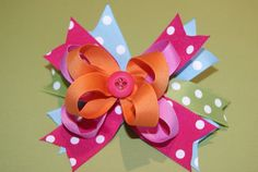 Spiky Stacked Hair Bow by PrettyPrincessNZ on Etsy