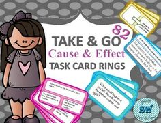 I have had several request to produce more Take & Go Rings for the busy Speech/Language Pathologist or Educator on the Go!This Take & Go: Cause & Effect Task Card Ring includes 82 Cards!2 definition cards20 multiple choice cause and effect task cards20 What If task cards20 fill in the missing cause or effect20 determine if the underlined is a cause or effect (intermediate)**Easy to assemble.**Just print, laminate, cut, hole punch and add them to a ringYou might also be interested ...