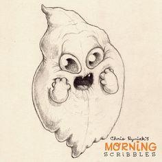 OMGhost!  Countdown to Halloween...#morningscribbles | 출처: CHRIS RYNIAK