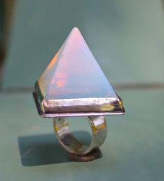 Opalescent  Pyramid Ring by angidega on Etsy, $168.00