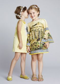 dolce and gabbana ss 2014 child collection, pale yellow