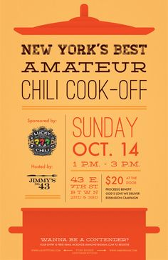 chili cook off poster - Google Search