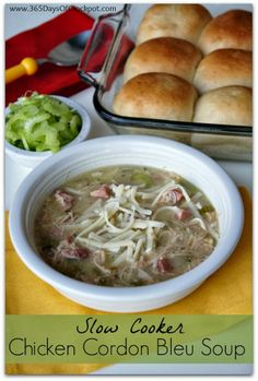 Slow Cooker Chicken Cordon Bleu Soup from 365 Days of Slow Cooking [via Slow Cooker from Scratch]