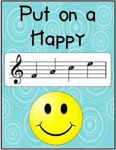 FREE. Put on a Happy Face Poster with the music notes F, A, C, and E in place of the word. FREE