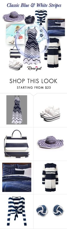 """Classic Blue & White Stripe Maxi"" by caroline-buster-brown ❤ liked on Polyvore featuring Dolce&Gabbana, Missoni Mare, West Elm and Yves Salomon"