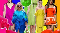Shock colour SS13 / aniazajac.com One Shoulder, Shoulder Dress, Burberry Prorsum, Lanvin, Moschino, Gucci, Fashion Trends, Beautiful, Dresses