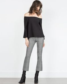 ccbe9db0b Image 1 of BELLED SLEEVE TOP from Zara