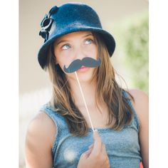 fun mustaches and lips
