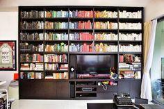 Love the rainbow colour organization -  Guardian shelfies