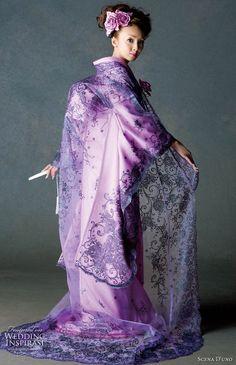 .purple wedding kimono.