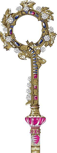 """2 pcs set Gold Decorative 6/"""" Key Tassel Dark Green"""