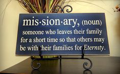 LOVE THIS! Would be a great gift to give to a mom of a missionary!