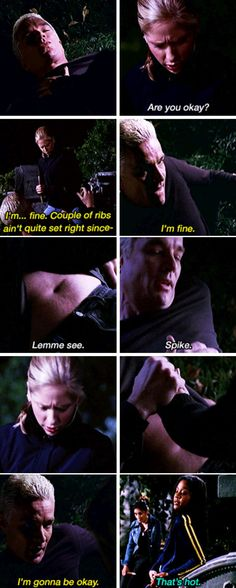 Buffy and Spike Spike Buffy, Buffy The Vampire Slayer, Buffy Summers, Nerd Love, Tv Show Quotes, Sarah Michelle Gellar, Great Tv Shows, Joss Whedon, Me Tv