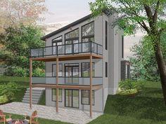Narrow Lot House Plan, 027H-0493