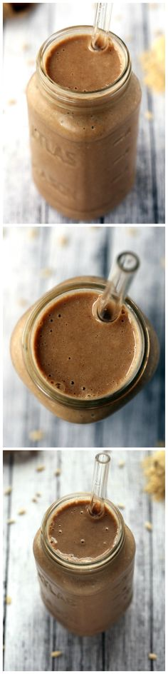 Energizing Sunflower Seed, Maca & Cinnamon Smoothie - This creamy, nut-free smoothie is packed with energizing, mood-balancing maca!