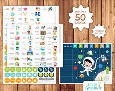 Calendario de recompensas para imprimir / Tabla por LittleGraphics